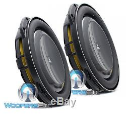 2 JL AUDIO 13TW5v2-4 OHM 13.5 SUBS THIN SHALLOW SUB-WOOFERS BASS SPEAKERS NEW