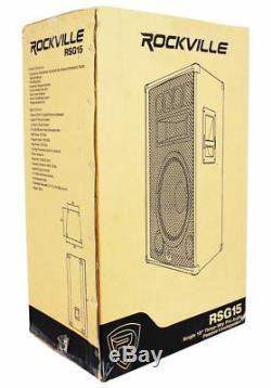 (2) Rockville RSG15 15 3000w Passive DJ/Pro Audio PA Speaker+(2) 15 Subwoofers