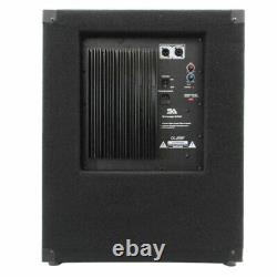 2 SEISMIC AUDIO 18 PA POWERED SUBWOOFER Active Speaker