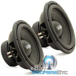 (2) Sundown Audio E-12 V3 D4 12 500w Rms Dual 4-ohm Car Subwoofers Speakers New