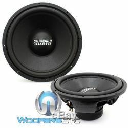 (2) Sundown Audio E-15 V3 D4 15 500w Rms Dual 4-ohm Car Subwoofers Speakers New
