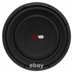2x 12 Shallow Mount Subwoofers 2400W 4 Ohm Pro Audio Bass Speakers DS18 SW12S4
