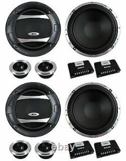 4 BOSS AUDIO PC65.2C 6.5 1000W Car 2 Way Component Speakers Audio Set PC652C