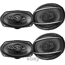 4 x Pioneer TS-A6967S 6 X 9 450W Max Power 90W RMS Stereo Car Audio Speakers