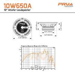 4x PRV 10W650A Alto Series Pro Audio 10 Woofer 8-Ohm 325 Watts DJ Speaker FOUR
