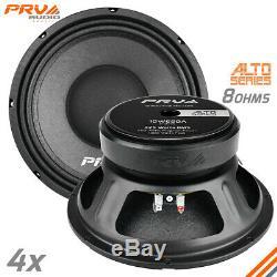 4x PRV Audio 10W650A Mid Range ALTO Car Stereo 10 Speaker 8 ohm 10A PRO 2600W
