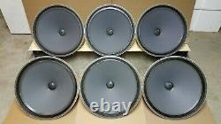 6Electrovoice 30W sub-woofer speakers, for tube amplifier audio western electric