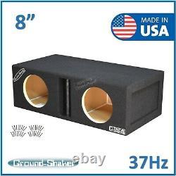 8 Dual Center Vented Ported Sub Box Subwoofer Enclosure Speaker Box Car Audio