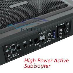 9'' Ultra-thin Under Seat Car Subwoofer Power Amplifier Bass HiFi Audio Speaker