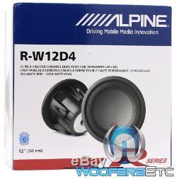 Alpine R-w12d4 12 Dual 4 Ohm Type-r 2250w Pro Loud Subwoofer Speaker Sub New