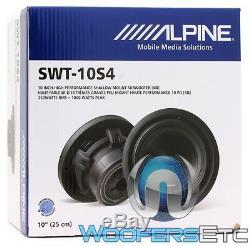 Alpine Swt-10s4 10 1000w Sub 4-ohm Subwoofer Bass Speaker Car Truck Audio New