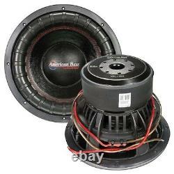 American Bass 12 Subwoofer XFL-1222 Car Audio Speaker Dual 2 Ohm 3000W Max New