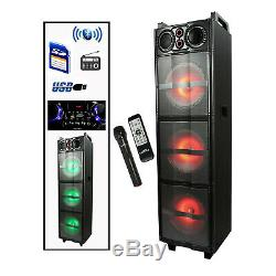 BEFREE SOUND PARTY LIGHTS BLUETOOTH DJ PA SPEAKER with 3 10 SUBWOOFERS USB/SD
