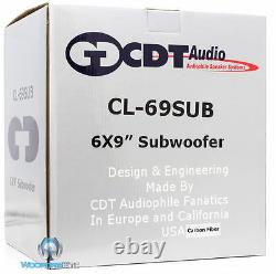 CL-69SUB/CF CDT AUDIO 6 x 9 CARBON FIBER SUBWOOFER SPEAKERS with GRILLS CL-69SUB