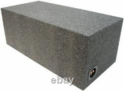 Car Audio Dual 15 Inch Ported Subwoofer Bass Speaker Sub Box 3/4 Mdf Enclosure