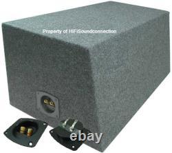 Car Audio Dual 15 Sealed Subwoofer Rear Angle Sub Box Enclosure Speaker Audio
