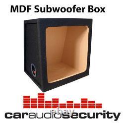 Car Audio Subwoofer Enclosure Square Kicker 12 Box Bass Box MDF Black Carpet