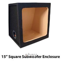 Car Audio Subwoofer Enclosure Square Kicker 15 Box Bass Box MDF Black Carpet