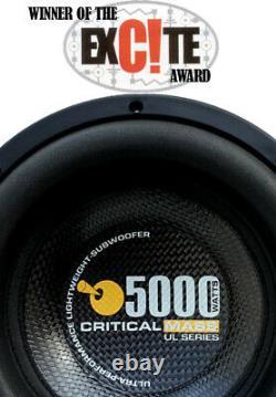 Critical Mass Audio Ul12 Best Subwoofer Speaker Amp Eq Audiophile Sound Sq Spl