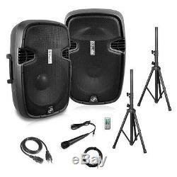 Dual Loudspeaker Sound Package, 10'' Subwoofers, Bluetooth, 2 Speaker Stands