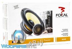 Focal 165kr 6.5 K2 Power 80w Rms Car Component Speakers Tweeters Crossovers New