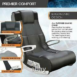 Gaming Chair Gamer With Sound Speakers & Subwoofer Game Seat Rocker Teens Adult