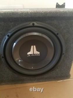 JL twin audio subwoofers speakers bass subs box