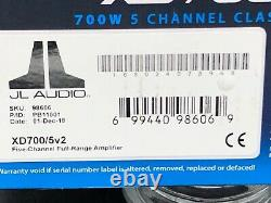 Jl Audio Xd700/5v2 Amp 5-channel Component Speakers Subwoofers Car Amplifier New