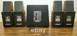 M&K Miller & Kreisel Sound 4 Satellite S-1B Speakers + Volkswoofer 2B Subwoofer