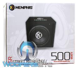 Memphis 12srxbox 12 Car Audio Subwoofer Bass Speaker + Ported Enclosure Box New