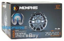 Memphis Mxa1044 10 Sub 500w Dual 4-ohm Marine Subwoofer Bass Boat Speaker New