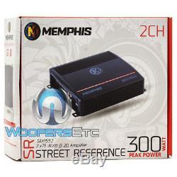 Memphis Srx112 12 Subwoofer Bass Speaker + Ported Box + 2 Channel Amplifier New