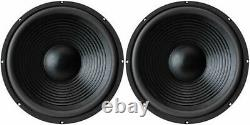NEW 15 (2) Subwoofer Replacement Speakers. 8 ohm Home Audio woofers. Bass Pair
