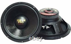 NEW (2) 12 Woofer Speakers. Home. Car Audio Sound PAIR. Inch. 8 ohm. PA. DJ. Subwoofer