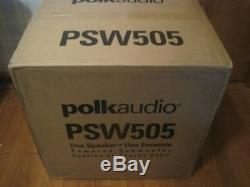 New Polk Audio Psw505 12 Powered Subwoofer Black Single For Home Speaker New