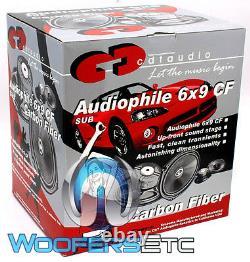 OPEN BOX CDT CAR AUDIO ES-0690 GOLD 6x9 SUBWOOFER MID-BASS SPEAKERS PAIR