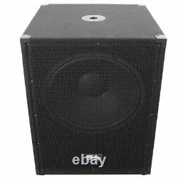 Pair of SEISMIC AUDIO 18 PA POWERED SUBWOOFER Active Speakers 800 Watts Each