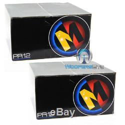 Pkg 2 MEMPHIS PR12S4V2 SUBS 12 SUBWOOFERS SPEAKERS + PPI TRAX1.1200D MONO AMP