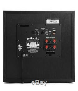 Polk 10 Powered Subwoofer Black Bass Amplifier Audio Sound Home Theater Speaker