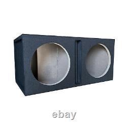 Pro Dual 10 Ported Subwoofer Enclosure Car Audio Speaker Box All Mdf