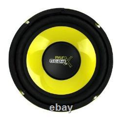 Pyle PLG64 6.5 1200W Car Audio Mid Bass/Midrange Subwoofer Speaker Set, 2 Pair