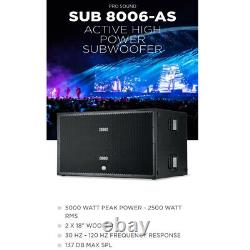 RCF SUB 8006-AS Dual 18 ACTIVE HIGH POWER SUBWOOFER 5000 Watts PA / Live Sound