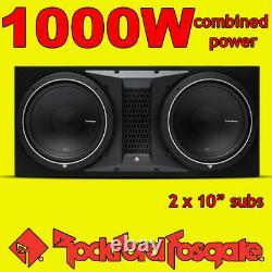Rockford Fosgate Double 10 PUNCH 1000w Car Audio Subwoofer Sub Woofer Bass Box
