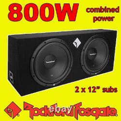 Rockford Fosgate Twin 12 Inch 800w Car Audio Subwoofers Driver Subs Bass Box