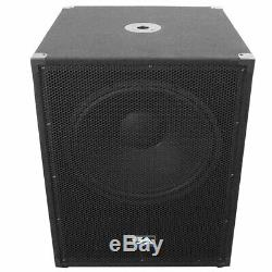 SEISMIC AUDIO 18 PA POWERED SUBWOOFER Speaker 800 Watt