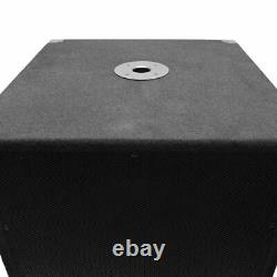 Seismic Audio Pair 15 Pro Audio Sub Cabinet PA DJ PRO Audio Speaker Sub 300W