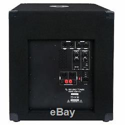 Sound Town 15 1600W Powered Subwoofers with 2 Speaker Outputs, (METIS-15SPW2.1)