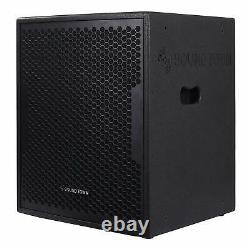 Sound Town 1600W 18 Powered Subwoofer with DSP, Plywood, Black (CARME-18SPW)
