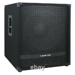 Sound Town 2400 Watts 18 Powered Subwoofer with High-Pass Filter (METIS-18PWG)