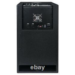 Sound Town CARPO-V412DS Set 2Column Speaker 112 Acrive Folded Horn Subwoofer